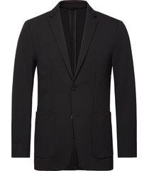 solid jersey casual blazer blazer kavaj svart calvin klein