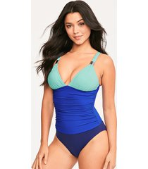 colourblock shaping one-piece swimsuit