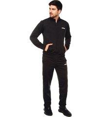 sudadera  negra adidas performance mts basics