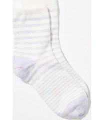 loft flecked stripe ankle socks