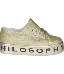 philosophy di lorenzo serafini glittery coated sneakers
