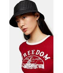 black reversible bucket hat - black