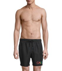 calvin klein swim men's euro volley logo swim shorts - white - size xl