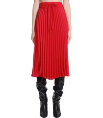 red valentino skirt in red polyester