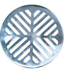 grelha para caixa sifonada redonda 10cm alumínio