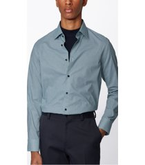 boss men's jango open green shirt