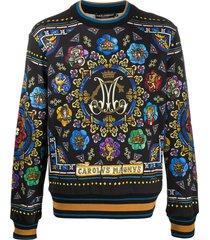 dolce & gabbana stained-glass window sweatshirt - black