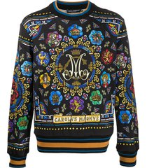 dolce & gabbana stained-glass window sweatshirt - black