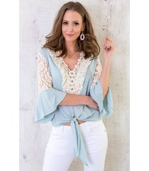 ibiza strik top babyblauw