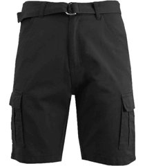 galaxy by harvic men's cotton chino shorts with belt
