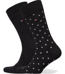 th men sock 2p dot underwear socks regular socks svart tommy hilfiger
