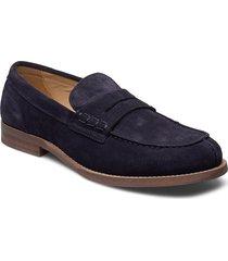hilfiger suede loafer loafers låga skor blå tommy hilfiger