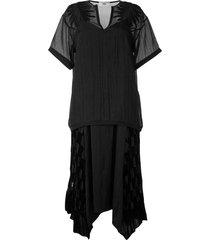 muller of yoshiokubo blaar opal lace check dress - black