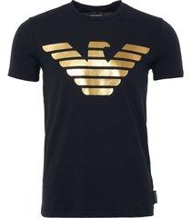 logo t-shirt - navy & gold 6z1te6-1j11z