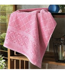 toalha de rosto dohler jacquard confort, liso, rosa - fj-5281