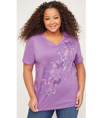 butterfly shimmer tee