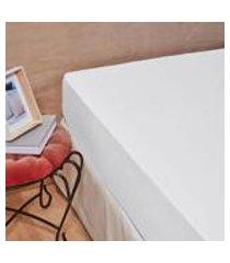 lencol com elastico percal total mix tinto artex - solteiro king - branco