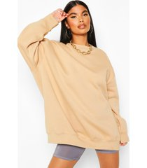 petite oversized sweater, beige