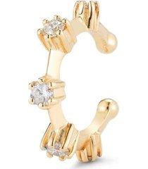 yellow gold kismet diamond ear cuff