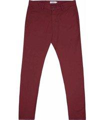 pantalón casual 340 unicolor slim fit para hombre 97914
