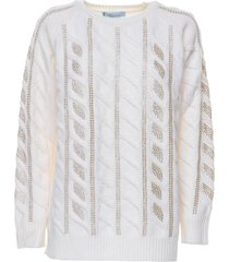 blumarine blumarine wool braid jumper