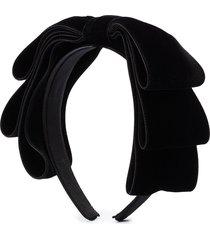 jennifer behr katya bow headband - black