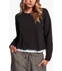 dip dyed cropped sweatshirt