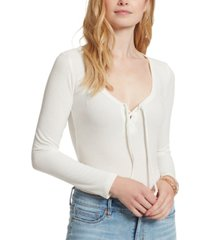 jessica simpson carrie lace-up bodysuit