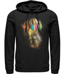 marvel men's avengers endgame painted thanos gauntlet, pullover hoodie
