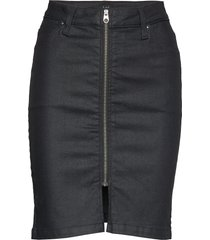 high waist zip skirt kort kjol svart lee jeans