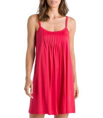 hanro juliet babydoll chemise, size x-small in geranium 1399 at nordstrom