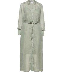 metallic chiffon dress maxiklänning festklänning grå coster copenhagen