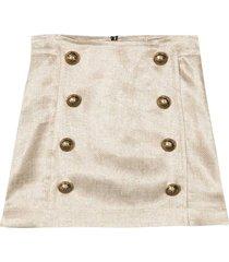 balmain gold skirt