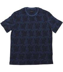 camiseta masculina individual jacquard 08770867 - masculino