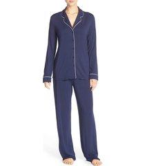 women's nordstrom lingerie moonlight pajamas, size large - blue