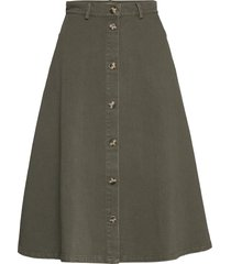 sanbina midi skirt knälång kjol grön soft rebels