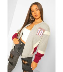 boston varsity jas, grey