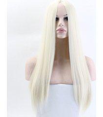 la moda europea y americana señoras peluca negra diadema de