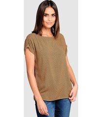 blouse alba moda geel::marine