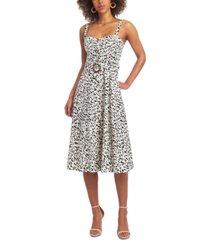 rachel rachel roy gabby animal-print belted midi dress