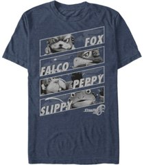 nintendo men's star fox team group panels short sleeve t-shirt