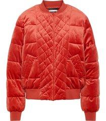 nmfinn velor short bomber jacket