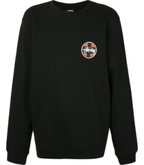 stussy cross dot logo sweatshirt - black