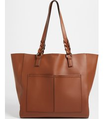 maurices womens cognac braided strap tote bag brown