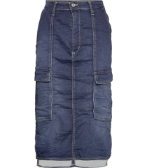cargo skirt blu denim knälång kjol blå please jeans