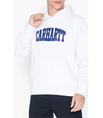 carhartt wip hooded theory sweat tröjor white