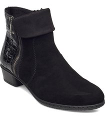 y0752-00 shoes boots ankle boots ankle boot - heel svart rieker