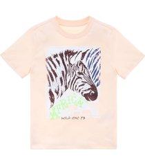 camiseta manga corta coral  offcorss