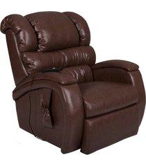 poltrona do papai reclinável elétrica com controle sala de estar oasis couro marrom brilho - gran belo