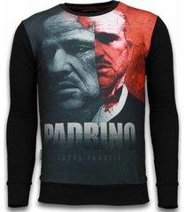 sweater local fanatic el padrino two faced - digital rhinestone sweater -